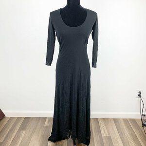 Anthropologie Western Wear High Low Black Dress